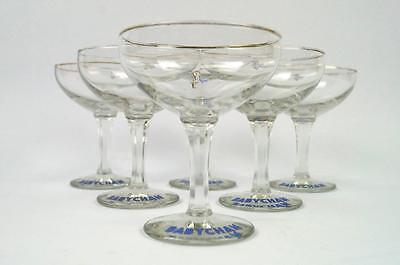 6 x Vintage Retro 1960's Babycham Glasses with Rare White Bambis