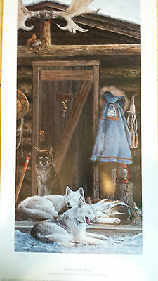"Jon Van Zyle Dog Sled Team Print ""A Welcomed Rest"" 350/500 s/n ltd ed"