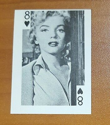 MARILYN MONROE Actress 1969 Globe Imports PLAYING CARDS  8 of HEARTS * RARE *