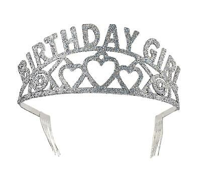 FANCY DRESS Tiara. Birthday Girl Glitter