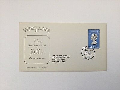 FDC QE11 25th anniversary of coronation - Guernsey