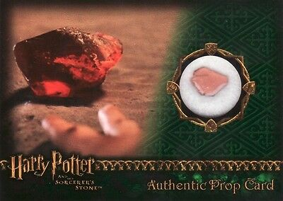 Harry Potter Sorcerers Sorcerer's Stone The Sorcerers Stone Prop Card