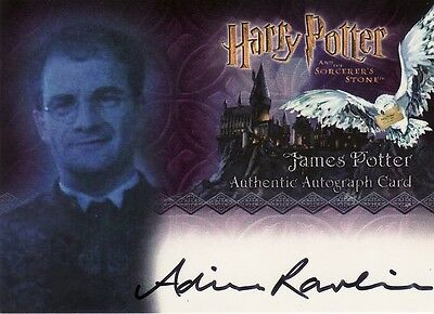 Harry Potter Sorcerers Sorcerer's Stone Adrian Rawlins / James Potter Auto Card