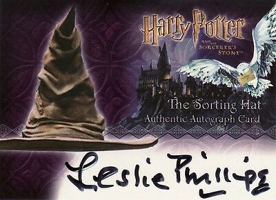 Harry Potter Sorcerers Sorcerer's Stone Leslie Phillips / The Sorting Hat Auto