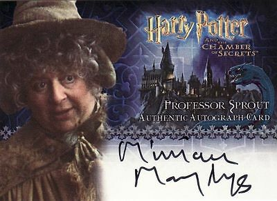 Harry Potter Chamber of Secrets CoS Miriam Margolyes / Professor Sprout Auto