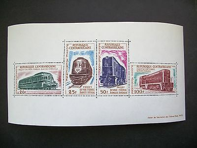 Central African Republic  Older 1963 S/S Railroad Project-Trains
