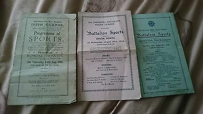 X3 ww1 sports programmes all dated 1916Original and nice condition