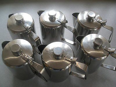 Job Lot: 6 Stainless Steel Hot Water / Coffee Jugs: Approx 15oz: