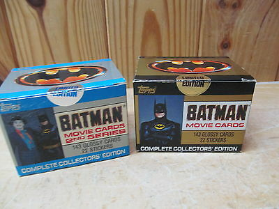 1989 Topps Sets Series 1 & 2 Batman Movie Cards