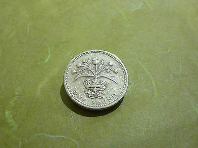 ☆ 1984  `THE THISTLE` £1 COIN - ONE POUND - Coin Hunt ☆