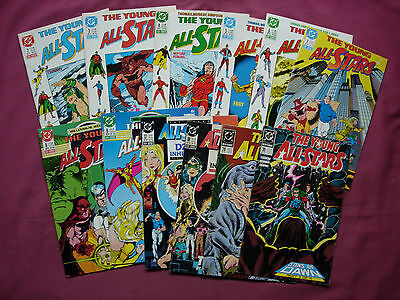 The Young All-Stars DC Comics USA X12 Issue Job Lot 1987-89 VFN