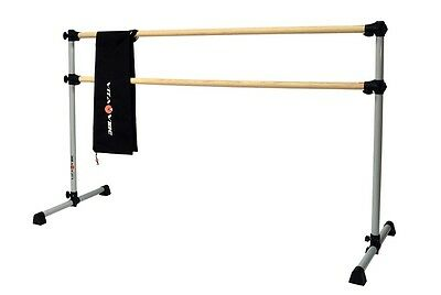 Vita Vibe Prodigy Series Traditional Wood Double Bar Ballet Barre and Bag Travel
