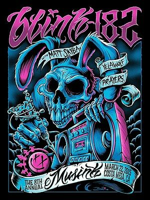 Blink 182 Musink Costa Mesa CA  Signed and numbered edition poster!!