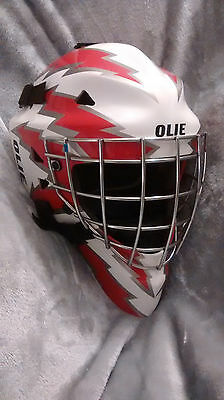 OLIE m2000 goalie mask with carrying bag new ice hockey helmet Senior Medium