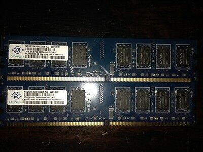 KIT MEMORIE RAM 2 x 2 GB = 4 GB DDR2 MICRON PC6400 800 MHz 240 PIN DESKTOP