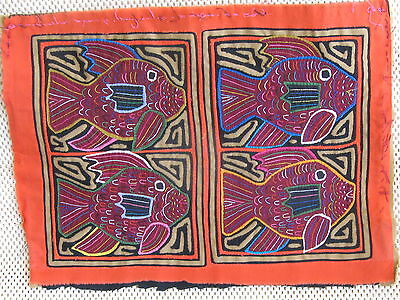 Kuna Tribe Quilt Mola Intricate Parallel Designs E.589