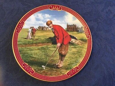Royal Worcester Golfing Collection Plate