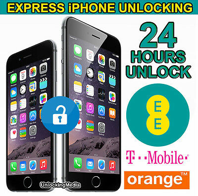 iPhone 6 6S & 6S Plus Factory Unlocking Service For UK EE Orange Tmobile -24 Hrs