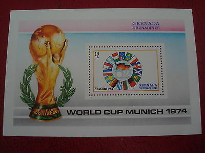 Grenadines - 1974 World Cup - Minisheet - Unmounted Mint - Ex. Condition