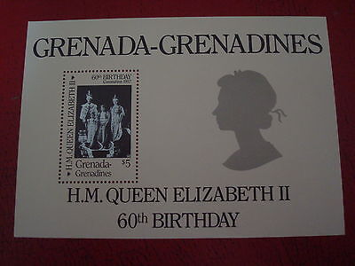 Grenadines - Queen`s 60Th Birthday - Minisheet - Unmounted Mint - Ex. Condition