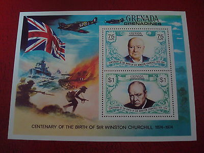 Grenadines - 1974 Churchill - Minisheet - Unmounted Mint - Ex. Condition