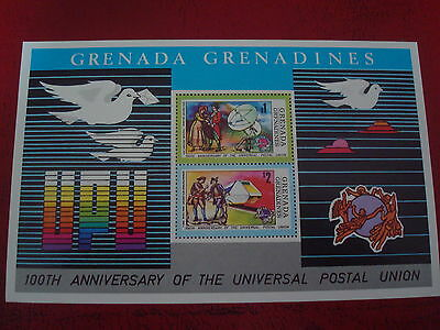 Grenadines - Upu Centenary - Minisheet - Unmounted Mint - Ex. Condition