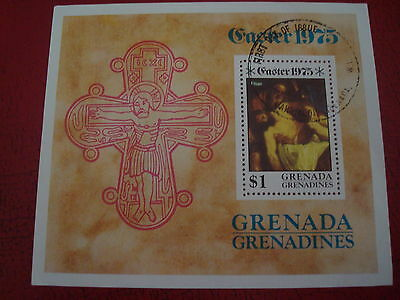 Grenadines: 1975 Easter - Minisheet - Unmounted Used - Ex. Condition