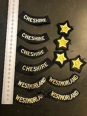 ORIGINAL 10x WWII Civil Defence Town Shoulder Titles Home Guard #2
