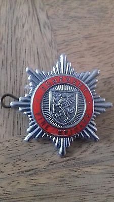 badge ''somerset fire brigade ''