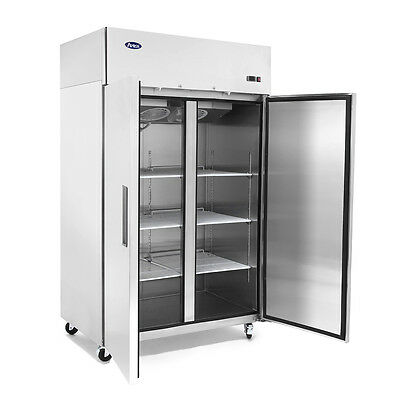 Double Two 2-Door Stainless Steel Refrigerator Commercial Store NSF Food Cooler
