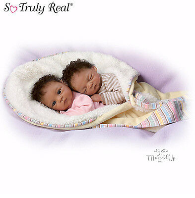 Jada And Jaden Poseable Twin Baby Doll Set From Ashton Drake
