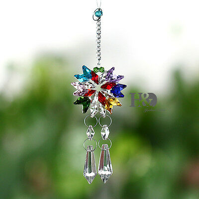Colorful Crystal Prism Beads Suncatcher Ornament Wedding Decor Pendant Gift