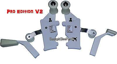 Boeing 737 Throttle levers for Saitek quadrant Full Handles Pro Edition V2 white