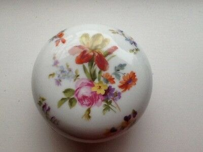 Continental Lidded Bowl with Hand Painted Floral Decoration