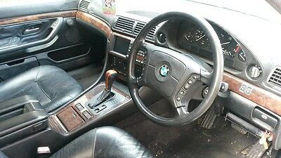 Bmw E38 750 Black Leather Stitched Centre Console With Armrest