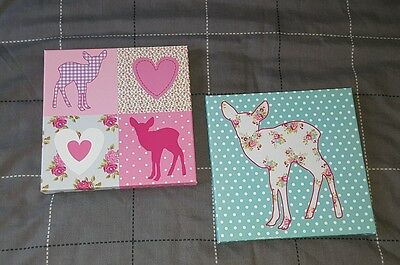 girls canvas picture x2