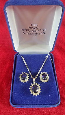Royal Engagement Collection Earrings and Pendant Necklace Princess Diana Kate