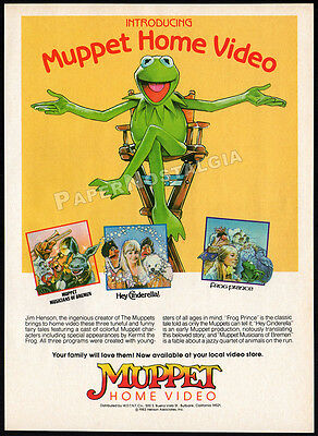 MUPPET HOME VIDEO__Orig. 1983 Print AD promo__Frog Prince_Hey Cinderella_Muppets