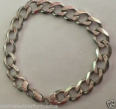 """Sterling Silver - ITALY 10mm Curb Chain 26.1g - Bracelet (8"""") Mens GK3503"""