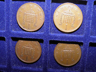 New Penny 1p  x4 Coins