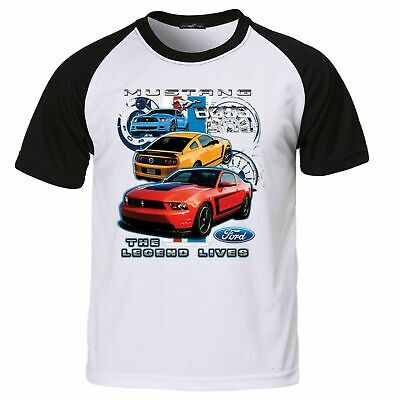 Ford Mustang Boss T Shirt Licensed 302 Shelby American V8 Classic Muscle Car