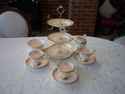 Tuscan fine bone china in pale pink and gold