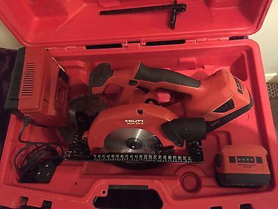 Hilti SCW 22-A Cordless Circular Saw with Battery Charger & 2 x Batteries
