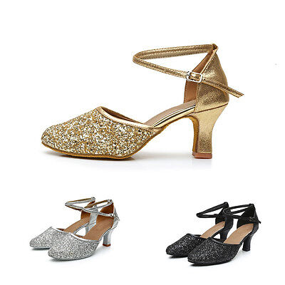Women Latin Dance Shoes Heeled Ladies Ballroom Salsa Tango Shoes All Size