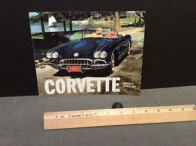 Chevrolet 1959 Corvette Brochure Original Mint!! No Reserve