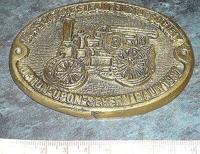 Ross on Wye Steam Engine society plaque, Upton on Severn, Rare item. 1987