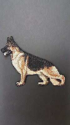 "German Shepherd Dog Embroidered Patch Approx Size 3.1""x 2.5"""