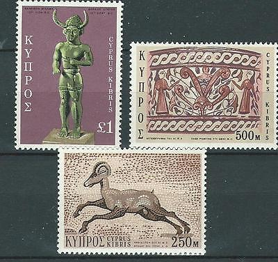Three great mint stamps from Cyprus. SG369,370 and 371