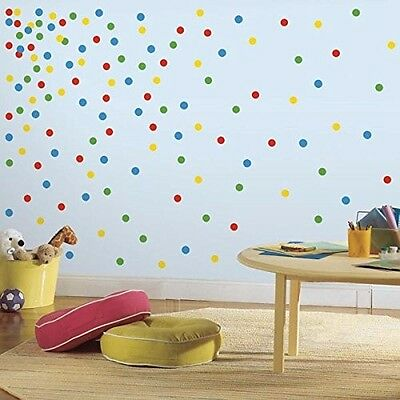 RoomMates Primary Confetti Dots Peel and Stick Wall Decals Free Shipping New