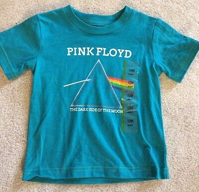Pink Floyd Dark Side Of The Moon Baby Toddler T-shirt Size 12M Color Blue